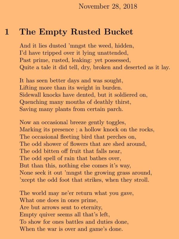 The Empty Rusted Bucket