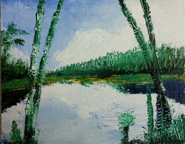 Wayanad Acrylic on Canvas with Palette Knife